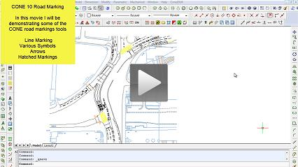 Using the CONE Road Marking Tools - Line Marking, Symbols, Arrows, Text