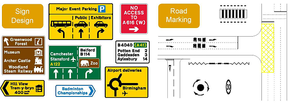 road marking and sign design tools