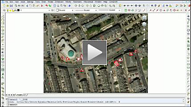 Import a Google map, scale to real world size, add works area and approach signage using Sign Arrays