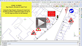 Adding Traffic Signs to a map using the CONE10 Sign Browse module