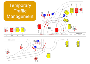 temporary traffic management diagrams