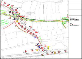Fairly detailed traffic management scheme - click to view a larger image