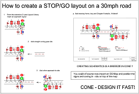 How to creat a STOP/GO layout - click to view a larger image