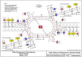 Traffic management on a dual carriageway - click to view a larger image